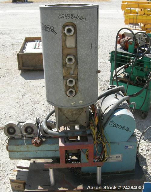 """Used- Baughan Stroud 1"""" Diameter Single Screw Extruder, Model 3500/CL. Approximately 24:1 L/D ratio. 3 zone non-vented barre..."""