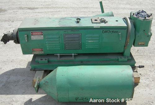 """Used: 1-1/2"""" single screw co-extruder, driven by a 10 hp DC gearmotor and a control panel with an Emerson electrostat drive...."""