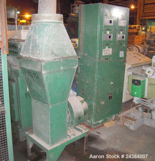 """Used- NRM/Bridge 4-1/2"""" single screw extruder, 30:1 L/D ratio. 6 zone, non-vented barrel. Electrically heated, water cooled ..."""
