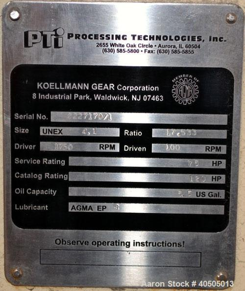 """Used- PTI Processing Technologies 2-1/2"""" Trident Series Single Screw Extruder"""
