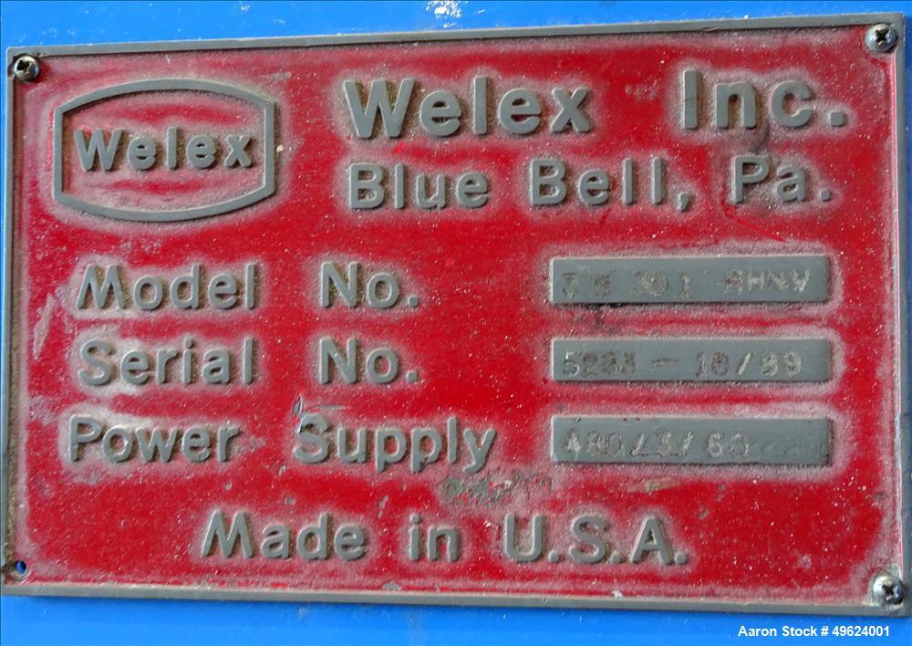 "Used- Welex 3.5"" Single Screw Extruder, Model 3.5"