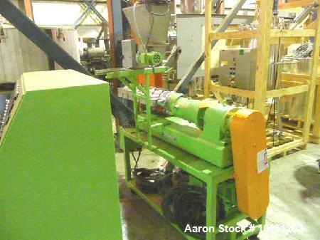 Used- Berstorff 25mm, 24/1 Extruder. Model ZE25, Serial # EO-3370/88. Manufactured in 1989. Has (2) co-rotating intermeshing...
