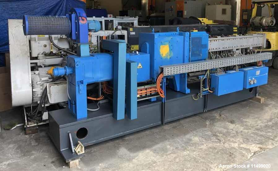 Used- Coperion 40mm Model ZSK 40MC Twin Screw Extruder