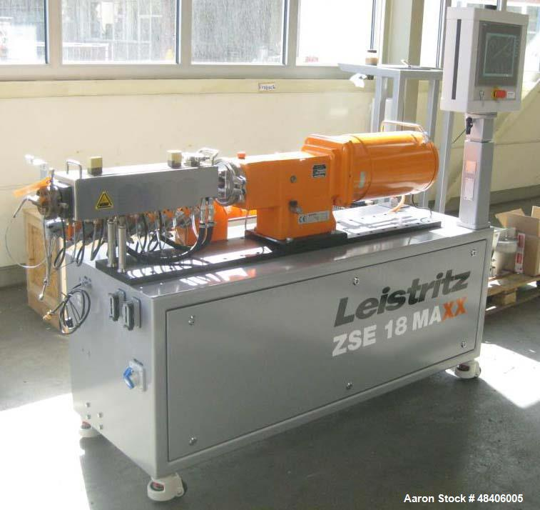 Used- Leistritz Twin Screw Extruder, type ZSE18 MAXX-28D