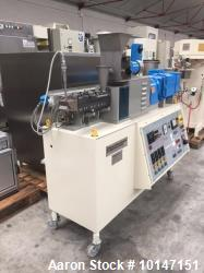 Used- Baker Perkins-Stoke on Trent Twin Screw Extruder, Type MPC/V30. 30 mm diameter twin screws. Co-rotating. 14:1 L/D. Ele...