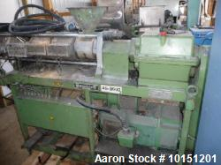 40mm Berstorff Model ZE40, 35/1 L/D, Co-Rotating Twin Screw Extruder. New in 1988. Serial #22-E71.0...