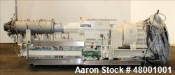 Used- Berstorff 75mm Twin Screw Extruder, Model ZE75A. 4 barrel Zone electrically heated, water cooled system including pump...
