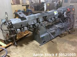 Used- 50mm Leistritz Co-Rotating Twin Screw Extruder with 40/1 L/D.