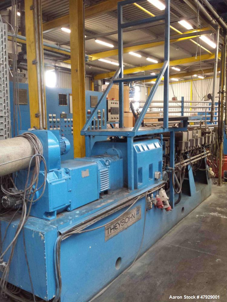"Used- Theysohn Twin Screw Extruder, Type N 60-36D 5096. 2.34"" (60mm) diameter 33:1 L/D. Co-rotating. 8 housing sections, ele..."