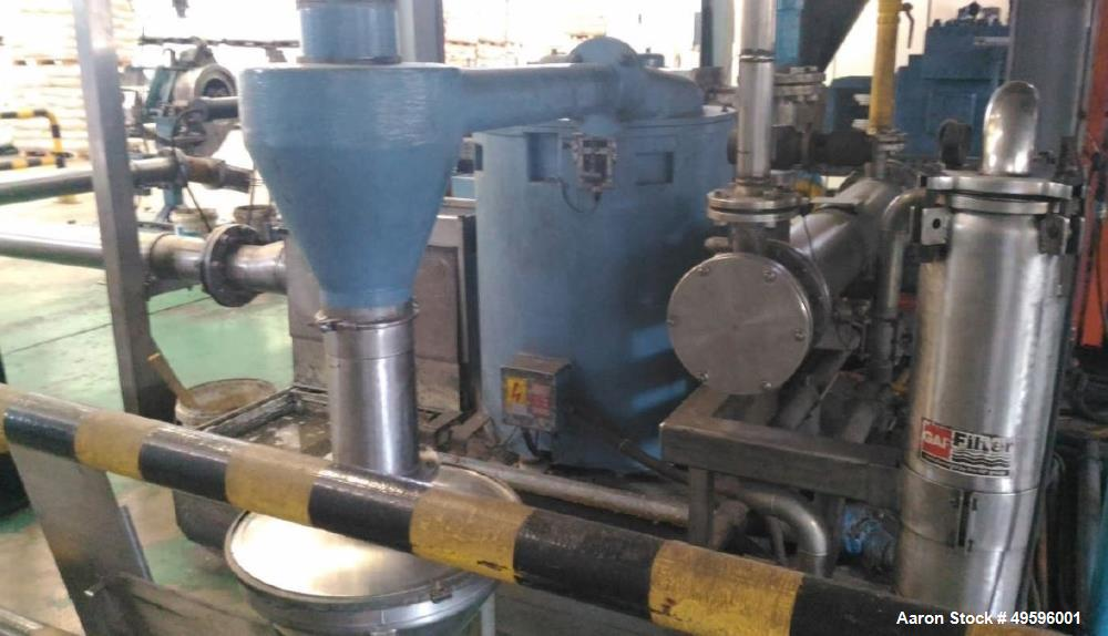 Used- Werner & Pfleiderer ZSK 92 Twin Screw Extruder. 36:1 L/D. Co-rotating, 9 housing sections, electrically heated, water ...