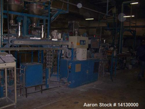 Used-Coperion Werner Pfleiderer lab size twin screw extruder, type ZSK25WLE. 25 mm diameter screws, 40:1 L/D, co-rotating. 1...