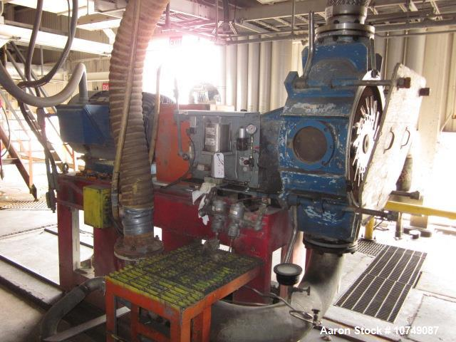 Used- Werner Pfleiderer Twin Screw Extruder; Model ZSK 300. 8 barrel sections, 164 rpm screw speed, single speed gearbox. Mo...