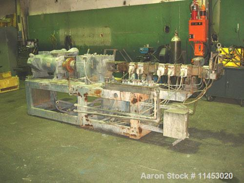 Unused-Used: Werner Pfleiderer twin screw extruder, type 25K40F-32.5E. 40 mm screws, co-rotating, 40:1 L/D, electrically hea...