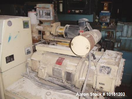Used- 40mm American Maplan Conical Counter Rotating Twin Screw Extruder, Model Con-40.  15 Hp DC motor with SCR. Electricall...