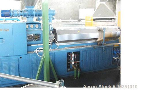"Used-Bausano MD 88/26 Counter-Rotating Twin Screw Extruder. Screw diameter 3.4"" (88 mm), L/D 26, parallel screw configuratio..."