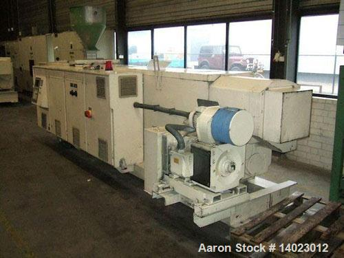 """Used-Weber DS 12 P Counter-Rotating Twin Screw Extruder. Screw diameter 4.7"""" (120 mm). L/D ratio 19. Motor 100 hp (75 kW). M..."""