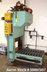 "Used- Morita Hydraulic Guillotine, Model ST2-12A. Approximate 25"" wide blade, driven by a 3.7kw, 3/60/220 volt hydraulic pow..."