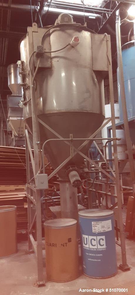 """Used- Vertical Mixer, 58"""" Diameter x 53"""" Straight Side x 43"""" Cone"""