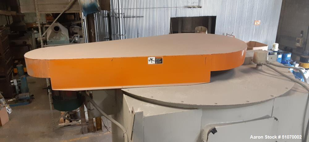 """Used- Vertical Mixer, 71.5"""" Diameter x 60"""" Straight Side x 42"""" Cone"""
