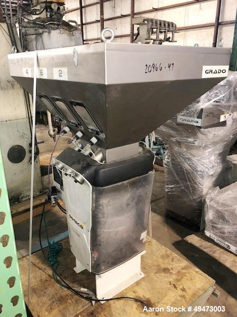 Used- DOTECO Model Grado K60 6 Component Gravimetric Blender. Includes Material Receiver, rated at 1134 kg/hr. Total Thruput...