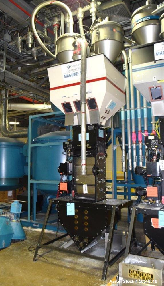 Used- Maguire Products Weigh Scale Blender, Model WSB-1840, Carbon Steel. Maximum throughput 5000 pounds an hour, 18KG batch...
