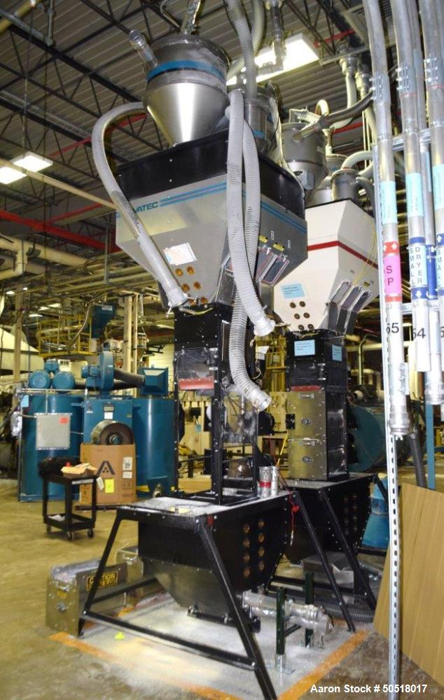 Used- Maguire Products Weigh Scale Blender, Model WSB-1840T, Carbon Steel. Maximum throughput 5000 pounds an hour, 18KG batc...