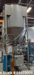 "Used- Vertical Mixer, 58"" Diameter x 53"" Straight Side x 43"" Cone"