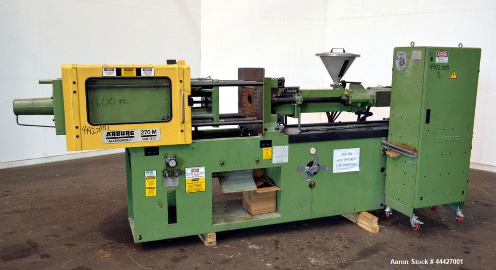 used arburg allrounder injection mold machine m rh aaronequipment com arburg injection molding machine manual pdf Inject Arburg Molding Machine Toggle