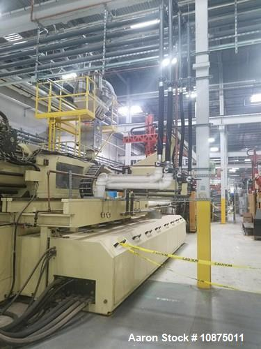 Used- Husky Injection Molding Machine, Model Mdl#: QD2350 MMC RS235/235, MFG 2003. 2500 ton capacity, 1613 oz shot capacity....