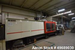 Used- Ferromatik Milacron Powerline 935 Horizontal Injection Molding Machine, 935 Ton, Model NT 935-105. Approximate 105 oun...