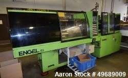 Used- Engel Horizontal Injection Molding Machine, 85 Ton, Model ES 330/85. Approximate 6.53 ounce shot size, approximate pla...