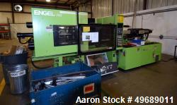 Used- Engel Horizontal Injection Molding Machine, 150 Ton, Model ES 600/150. Approximate 10.32 ounce shot size, approximate ...