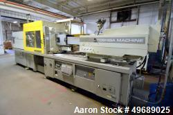 Used- Toshiba Machine Horizontal Injection Molding Machine, 310 Ton, Model ISF310SII. Approximate 30.20 ounce shot size, app...