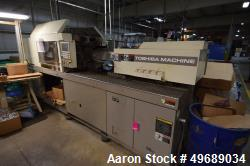 Used- Toshiba Machine Horizontal Injection Molding Machine, 150 Ton, Model ISG150N. Approximate 10.22 ounce shot size, appro...