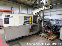 Used- Toshiba Machine Horizontal Injection Molding Machine, 190 Ton, Model ISGS190N. Approximate 8.10 ounce shot size, appro...