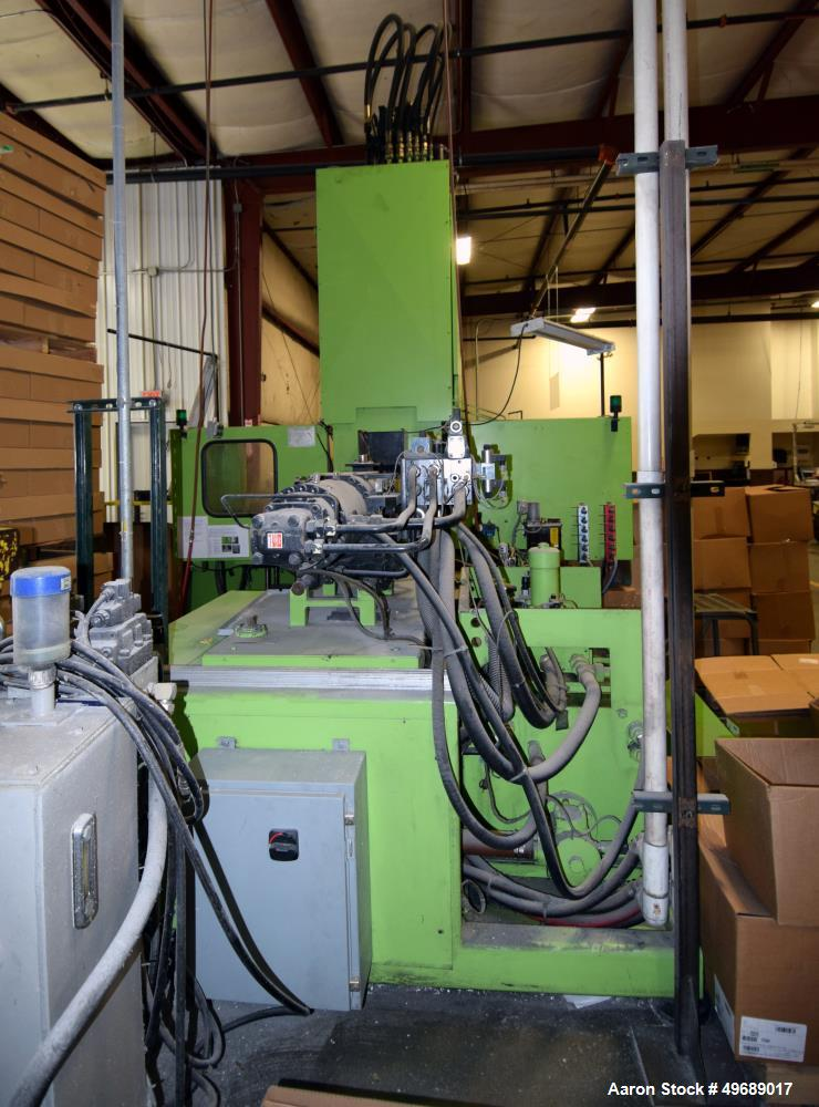 Used- Engel Vertical Injection Molding Machine, 200 Ton, Model ES 600/200.