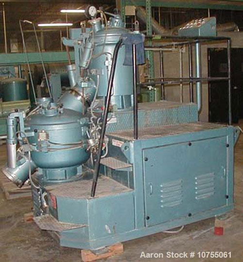"""Used- Gunther Pampenmeier TSEH/KMHO, main mixer 20"""" diameter x 26"""" deep jacketed bowl with swing away top cover, with baffle..."""