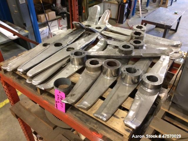 Used- Henschel Bottom Scraper Blade. 150 Liter