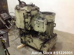 Used- Mitsui Miike 300 Liter High Intensity Mixer, Model FM300E. 790/395 RPM Blade Revolution, Driven by a 45/22 kW, 3/60/20...