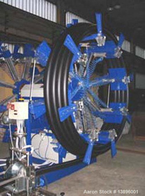 """Used-Pipe Extrusion Line. Pipe diameter 0.63"""" - 1.58"""" (16 - 40 mm), maximum capacity 88 lbs/hour (40 kg/h), 53.3 hp/40 kW, w..."""