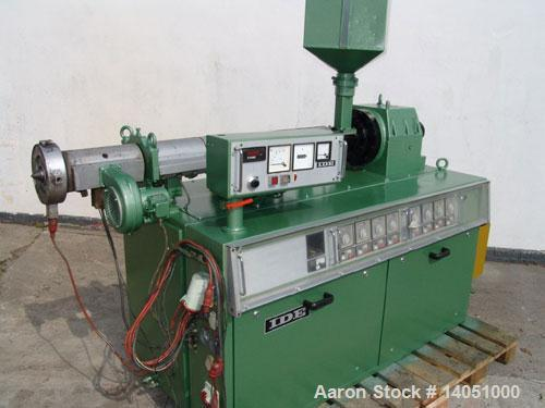 """Used-IDE Co-Extrusion Line. (1) IDE ME-60/3 single screw extruder, 2.4"""" (60 mm), 25 L/D, 32 hp/24 kW DC motor, output approx..."""