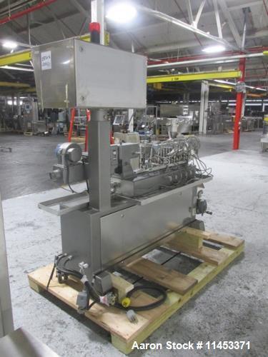 Used- Leistritz Twin Screw Pelletizing Line, Model Micro18-GGL