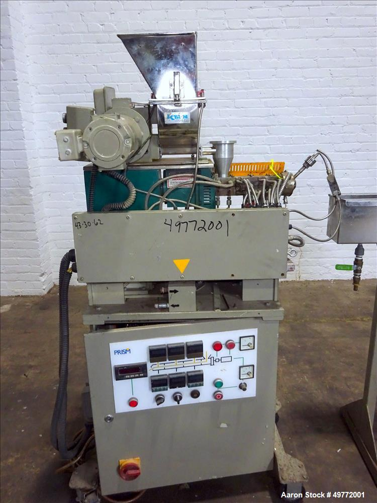 Used- Prism Twin Screw Co-Rotating Extrusion Pelletizing Line