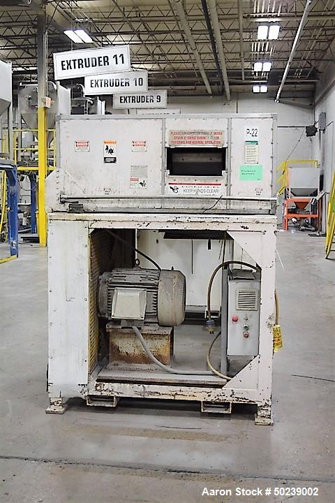 """Used- Cumberland Quietizer Pelletizer, Approximate 14"""" Wide, Model 14PELL. Includes an AC motor with VFD and a sound deadeni..."""