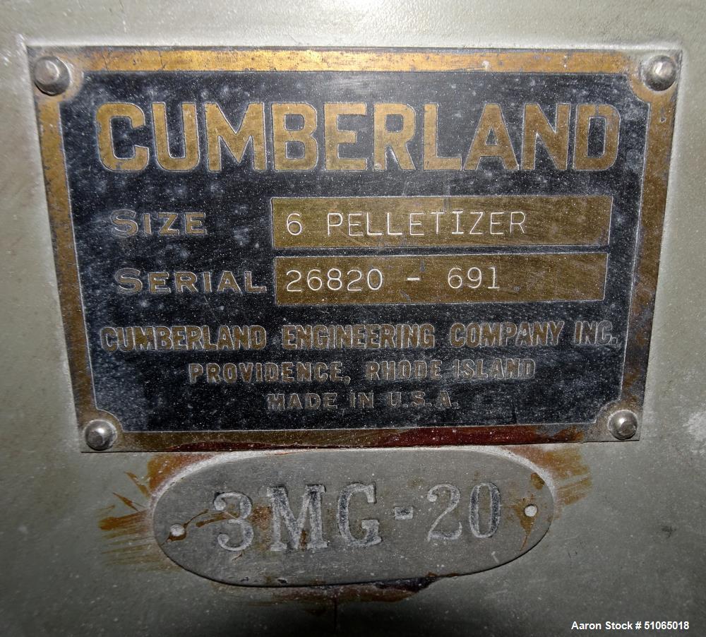 Cumberland Model 6 Pelletizer