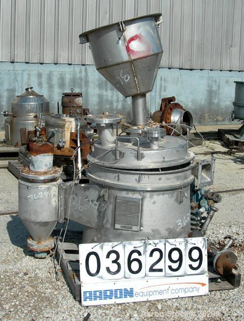 Used- Krauss Maffei Baffle Ring Centrifuge, Model ARZ-54