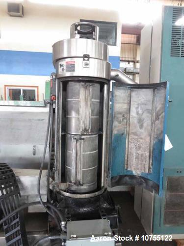 Used- Xalloy Model Wrp-12i Water Ring Pelletizer. 1800 lbs. / hr. pellets nominal rate per hour, 3600 rpm maximum cutter spe...