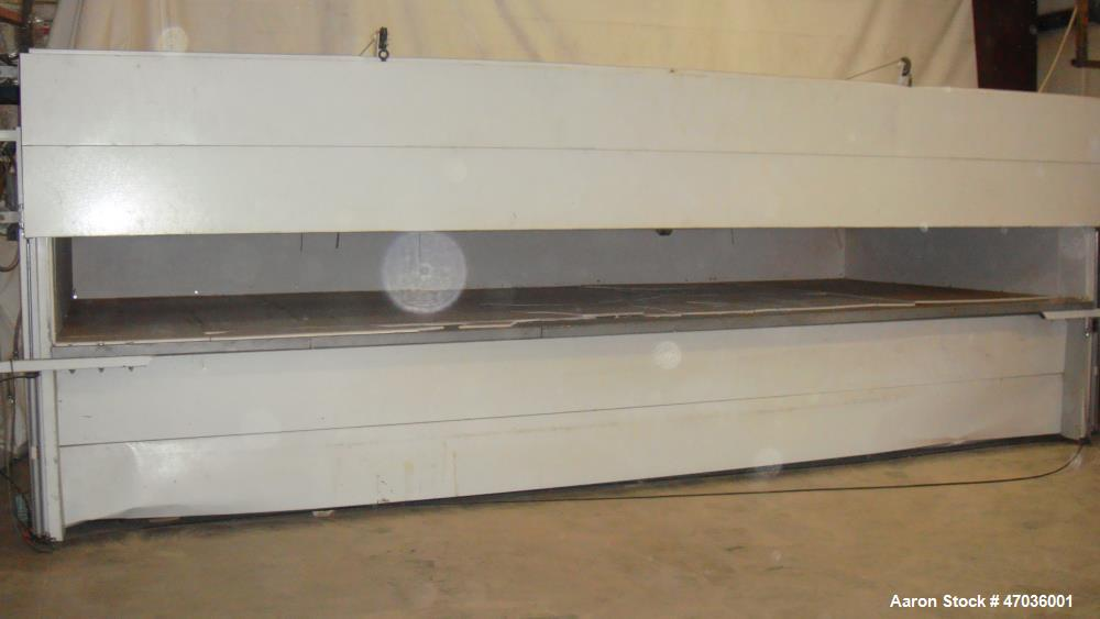 """Used- Vacuum Forming Machine for Making Signs. 4 zones, approximately 500 gallon vacuum tank. Opening dimensions 244"""" length..."""