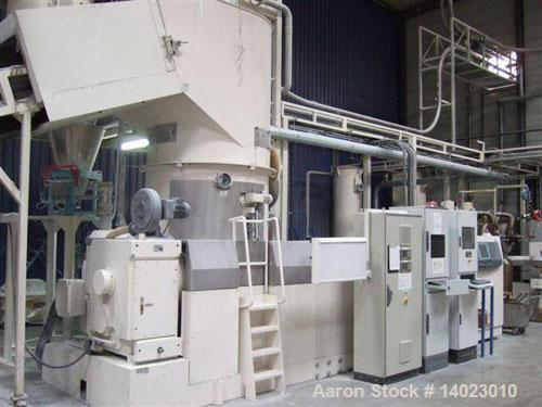 Used-Erema 1721 TVE DD Recycling Line.  670 Hp/500 kW.  Comprised of:  (1) FB 10000/2000 feeding belt with metal detector. (...