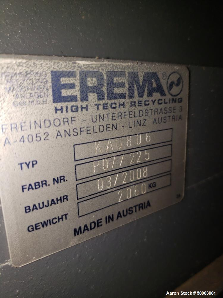 Used Erema Automatic Edge Trim Recycling System